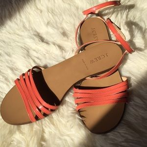 J Crew Patent Leather Sandals